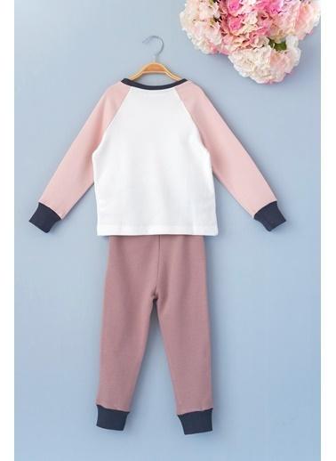 Cigit Zarf Arplikeli Pijama Takımı Ekru
